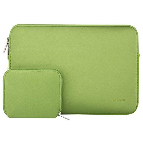 MOSISO Wasserresistente Lycra Hülle Sleeve Tasche für 13-13,3 Zoll MacBook Pro, MacBook Air, Notebook Computer Laptophülle Schutzhülle Laptoptasche Notebooktasche mit Kleinen Fall, Greenery