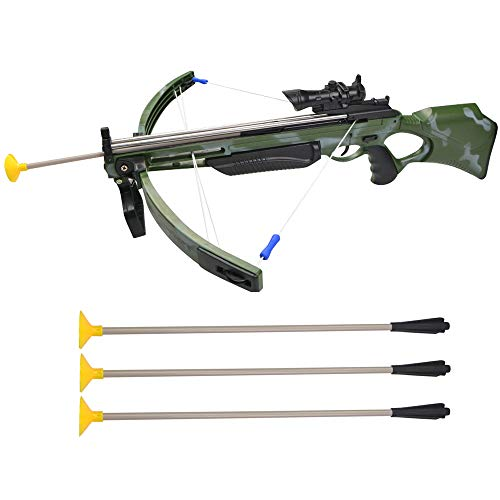 ZSHJG Spielzeug Armbrust Outdoor Kinder Spielzeug Bogen & Pfeil Armbrust Crossbow Set Garten Spiele Armbrust Kit mit 3 Sticky Sucker Saugpfeile für Kinder (Armbrust + 3Pfeile)