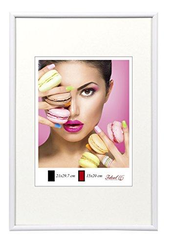 Photo Style Bilderrahmen in 20x30 cm bis 50x70 cm DIN Format Bilder Foto Rahmen: Farbe: Weiß | Format: 40x50