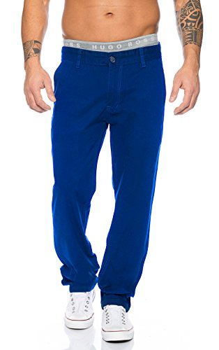 Rock Creek Herren Designer Chino Stoff Hose Chinohose Regular Fit Herrenhose W29-W40 RC-2083 [RC-2083 - Royalblau - W34 L30] (Hose Blaue Chino)