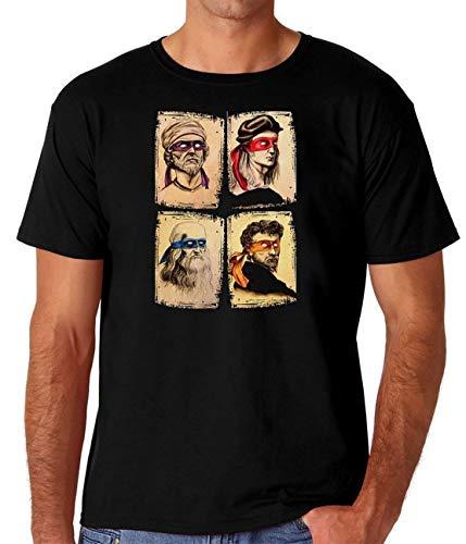 Leonardo Raphael Donatello Michelangelo TMNT Mens Casual Tops T Shirt