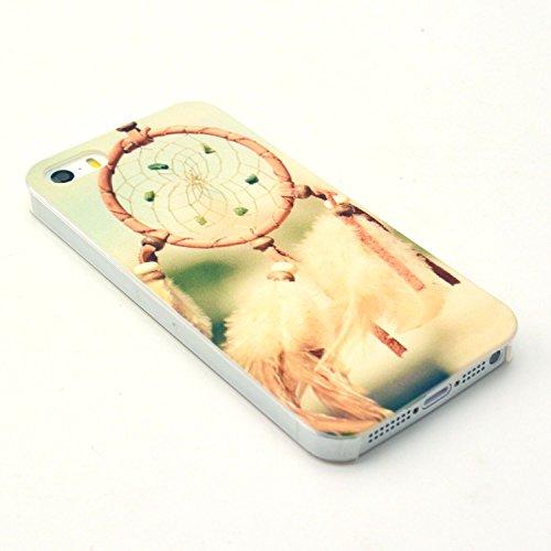 PowerQ [ per Iphone 5S 5G 5 IPhone5 IPhone5S - 14 ] la stampa del modello di plastica caso del modello di serie del sacchetto stampa cassa del telefono mobile di plastica colorata di disegno della pel 3