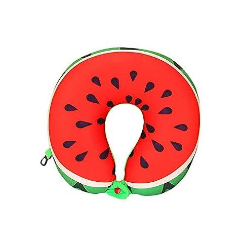 Vovotrade Fruit U-förmige Kissen Reisekissen Nanopartikel Car Pillow (B)