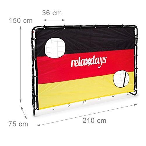 Relaxdays Fußballtor mit Torwand HBT 150 x 210 x 75 cm, Deutschland, M, 10020023 - 2