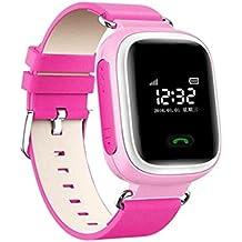 Smartwatch Pulsera de Reloj Infantil Reloj Inteligente GPS / LBS Localizador para Seguridad de Niños - Rosa