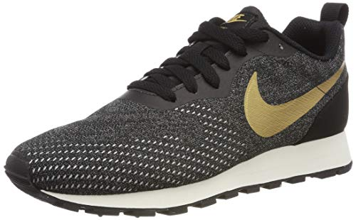 Nike Wmns MD Runner 2 Eng Mesh, Zapatillas de Entrenamiento para Mujer, (Black/Metallic Gold-Dark Grey-Phantom 007), 40 EU