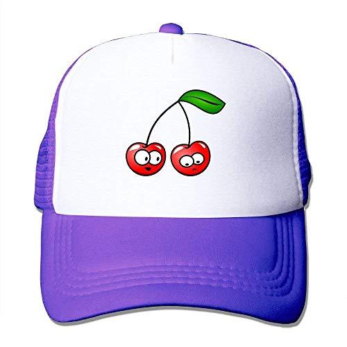 c4f17d5ed FGHJKL Expression Cute Cherry Vector Women's Mesh Unisex Snapback Baseball  Trucker Hats