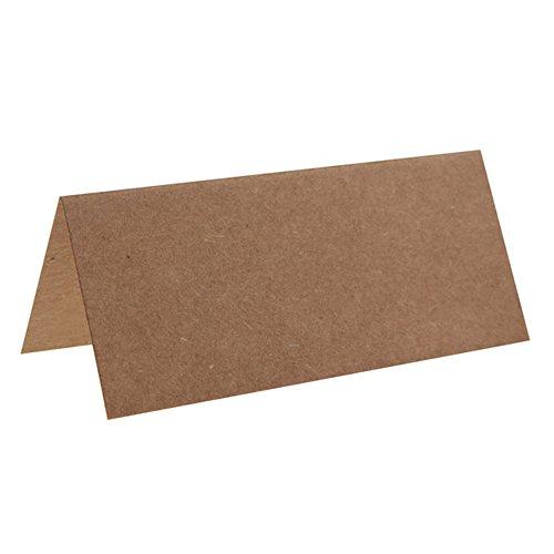 2 Lots de 10 Marque-places rectangle marron / Kraft - REF/3013