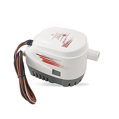 Automatische Bilgepumpe   Lenzpumpe   Tauchpumpe   bilge pump   mit integriertem Schwimmschalter   750 GPH   48 l/min   12 V   perfekt für ein breites Einsatzspektrum