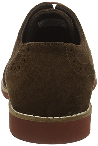 Red Tape Brickhill, Scarpe Stringate Basse Brogue Uomo Marrone (Brown Suede)