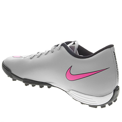 Nike Mercurial Vortex Ii Tf, Scarpe sportive, Uomo Gris / Rosa / Negro (Wolf Grey / Hyper Pink-Black-Blk)