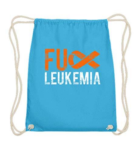 Fuck Leukemia - Leukämie, Krebs, Blutkrebs, Leukose, Krebskranke, Kranke, Krankheiten - Baumwoll Gymsac