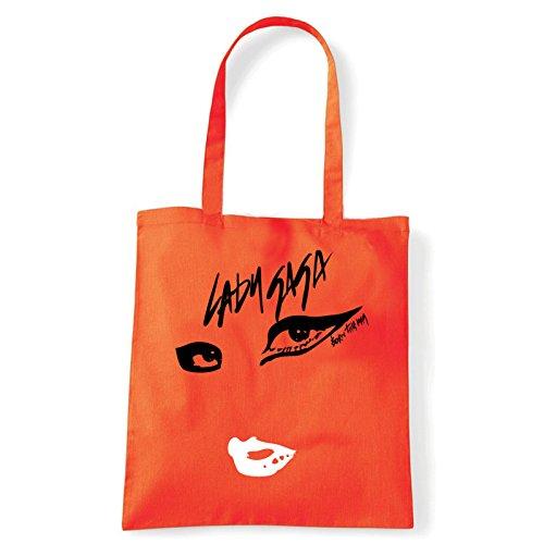 Art T-shirt, Borsa Shoulder Born This Way, Shopper, Mare Arancio