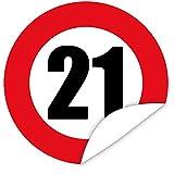 Zahl 21 Aufkleber | Gestalten Sie Ihre Geschenke individuell
