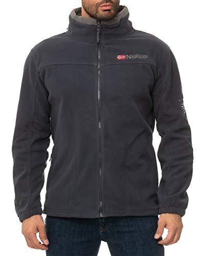 Geographical Norway Veste Polaire Homme - Bleu - XX-Larg