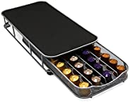 Stylish Coffee Capsule Storage Drawer Holder Compatible for Nespresso Storage Steel Organizer Nespresso Holder