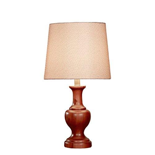 personnalité simple Chambre à coucher en bois massif Lampe de table Lampe de chevet Style européen classique classique Ampoule de style américain moderne Salle de séjour simple moderne