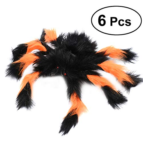 cary Tricky Spooky Spider Plüsch Spielzeug Halloween Party Scary Dekoration Haunted House Prop (bunt) ()