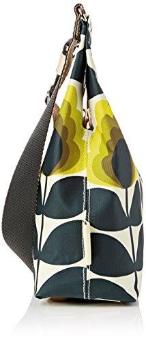 Orla Kiely Summer Flower Stem Mini Sling Bag, Sacs portés épaule Orange (Sunshine)