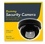 BG Outdoor Indoor Fake Dummy Imitation CCTV Security Camera W/ Blinking Flashing Light Bullet Shape black TW02
