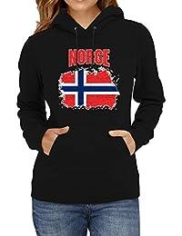 Shirt Happenz Norwegen Flagge Premium Hoodie Fußball Nationalität Reisen  Frauen Kapuzenpullover 8046806598