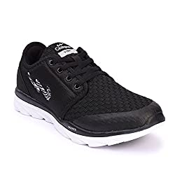 Campus MenS Black Mesh Running Shoes (8 Uk)