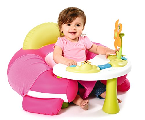 Smoby 110203 - Cotoons Baby-Sitz mit Activity-Tisch, rosa