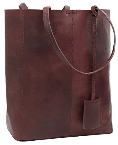Gusti borsa da donna borsa in vera pelle borsa a spalla borsa shopper 13L borsa Cassidy bordeaux