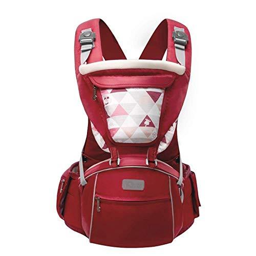 Smmli-Toy Babytrage, Four Seasons Universal Bequemer und atmungsaktiver roter Kinderwagen Ergonomischer 3-in-1-Kinderwagen Geeignet für 3-36 Monate, ≤15 kg