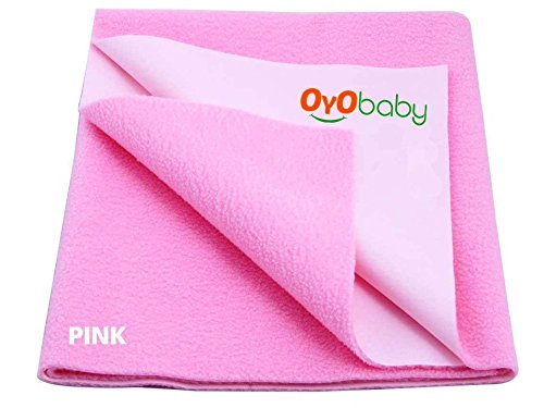 Oyo Baby Quickly Dry Soft Waterproof Bed Mattress Protector Pink S (70Cm X 50Cm)