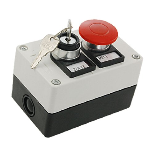 Key Lock On/Off Schalter Red Mushroom Push Button Station Button-station
