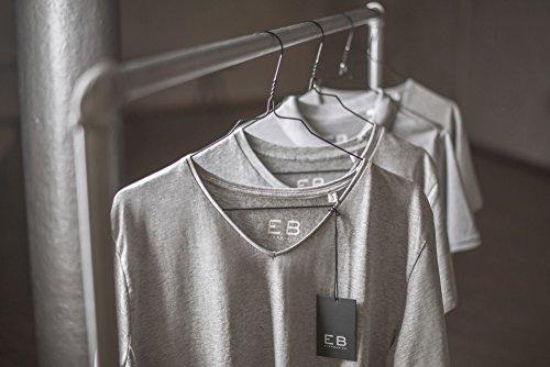 Everbasics Herren T-Shirt Sydney V-Ausschnitt - Funktionsshirt für tagelanges Tragen ohne Waschen - in Vielen Farben Erhältlich! Weiß