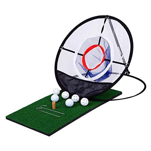 Leezo Collapsible Golf Chipping Net Tragbare Golf Pitching Praxis Net Training Schlagen Tasche für Genauigkeit und Swing Praxis