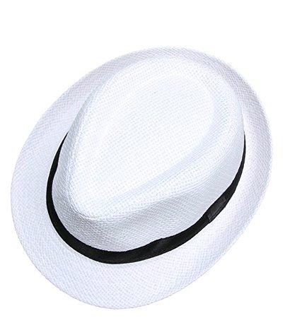 648431a2f1c93 Leisial Sombrero de Jazz Playa Paja Panama Estilo Británico Deporte al Aire.