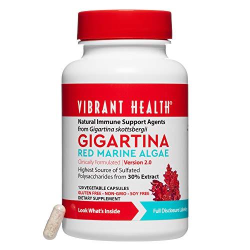 Vibrant Health Gigartina Marine Rotalgen 5 Stämme 250 mg 120 Kapseln auf pflanzlicher Basis -