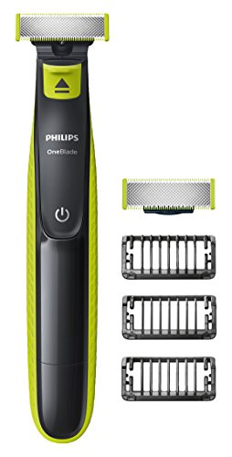 Philips OneBlade QP2520/30 Hybrid Trimmer and Shaver (3x Lengths and 1 Extra Blade) - exclusive to Amazon (UK 2-Pin Bathroom Plug)