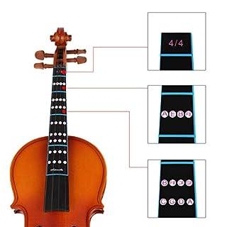 Neue 1Pcs 4/4 Skala Violine Geige Griffbrett Fingerführung Etikett Aufkleber Notizkarte Schwarz - Schwarz