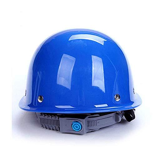 GBY Schutzhelm Arbeitshelm aus Kunststoff Bauarbeiterhelm mit Belüftung (Farbe : A)