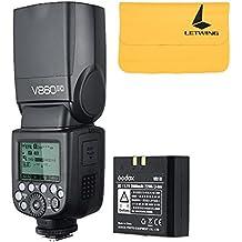 Godox V860II-C 2.4G GN60 inalambrico E-TTL HSS 1/8000s Bateria Lion Camara Flash Speedlite para Canon Rebel T6 T5 6D 60D 70D 80D 700D 750D 1300D 580EX 1DX EOS Camaras (V860II-C)
