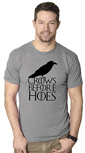 Crows Before Hoes T Shirt Funny Black Crow Brotherhood TV Tee X-Large