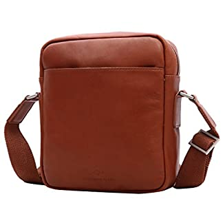 41op8U6leML. SS324  - Leathario Bolso portátil de Moda de Cuero Primer Capa para Hombres