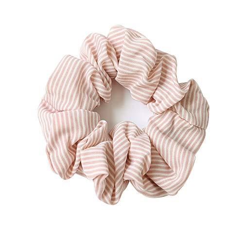 Haarband für Mädchen, Chiffon, Haargummi mit Bommel, elastisch