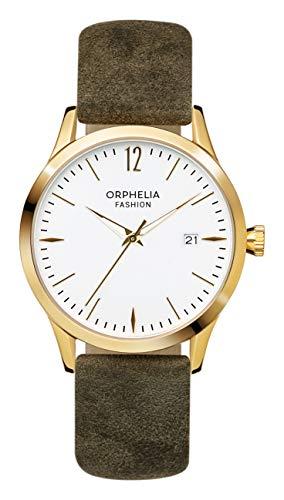 Orphelia Fashion Damen-Armbanduhr Suede Analog Quarz mit Leder Armband