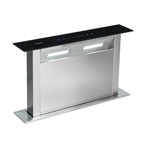 Klarstein Royal Flush Downdraft • Campana extractora replegable • Extracción 430 m³/h...