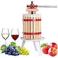 AMNZZ 6L Sólido Madera Cesta Fruta Prensa con Tirante Bolso Vino Fabricación Trituradoras