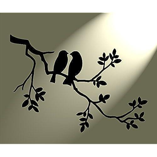 bird stencils. Black Bedroom Furniture Sets. Home Design Ideas