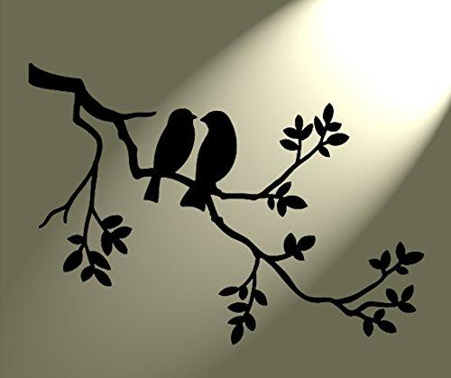 pochoir-representant-2-oiseaux-dans-un-arbre-style-shabby-chic-vintage-pour-art-mural-format-a3-420-