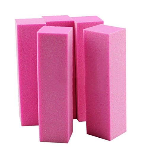Nail Art Buffing, ESAILQ 10PCs Buffing Puffer Block Dateien Acryl Pediküre Schleifen Maniküre Nail Art Tipps (Rosa)
