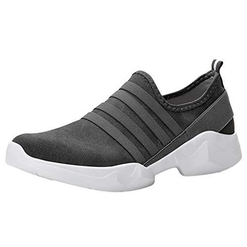 Saihui Unisex Sportschuhe Laufschuhe Rutschfeste Turnschuhe Trainers Running Leichte Schuhe Fitness Atmungsaktiv Sneakers mit Snake Optik (EU:42, Dunkelgrau) -