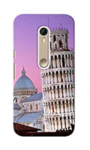 CimaCase Leaning Tower Of Pisa Designer 3D Printed Case Cover For Motorola Moto X Style